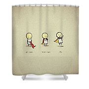 12483 Funny Simple Shower Curtain