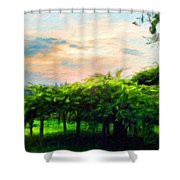 Oil Painting Landscape Pictures Nature Shower Curtain
