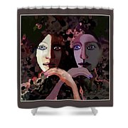1258 - Stream Of Sadness 2017 Shower Curtain