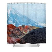 Landscape Paintings Canvas Prints Nature Art  Shower Curtain