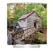 1267 Great Smoky Mountain Cable Mill Shower Curtain