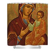 Madonna Enthroned Shower Curtain