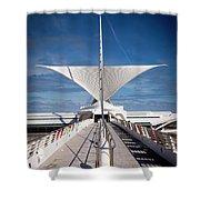 1273 Milwaukee Museum Of Art Shower Curtain
