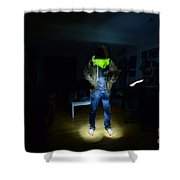 Light Painting Photography Shower Curtain