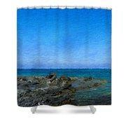 Nature Landscape Painting Shower Curtain