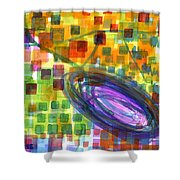 Joyful Whirl Of Colours Shower Curtain