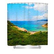 Nature Original Landscape Painting Shower Curtain