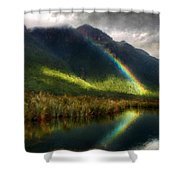 Acrylic Landscape Painting Shower Curtain