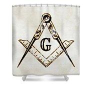 Ancient Freemasonic Symbolism By Pierre Blanchard Shower Curtain