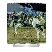 Bronco Riding Shower Curtain