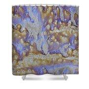 13. Cascade Brown Glaze Painting Shower Curtain