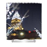 Christmas Lights Holiday Decorations Around Charlotte North Caro Shower Curtain