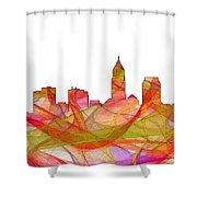 Cleveland Ohio Skyline Shower Curtain