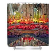 Ely Cathedral Flower Festival Shower Curtain by James Billings