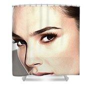 Gal Gadot Poster Shower Curtain
