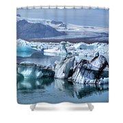 Jokulsarlon - Iceland Shower Curtain