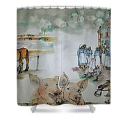 Land Of Clogs And Windmill Album Shower Curtain
