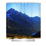 Landscapes Drawings Shower Curtain