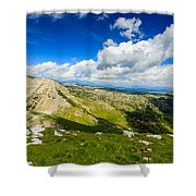 Mountain Panorama, Italy Shower Curtain