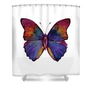 13 Narcissus Butterfly Shower Curtain