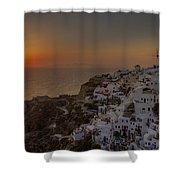 Oia - Santorini Shower Curtain by Joana Kruse