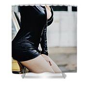 Pin Up #8 Shower Curtain