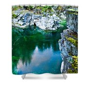 R G Landscape Shower Curtain
