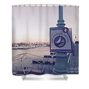 Racine Harbor Wisconsin  Shower Curtain
