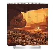 Saga Star Wars Poster Shower Curtain