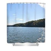 Savannah River  Shower Curtain