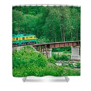Scenic Train From Skagway To White Pass Alaska Shower Curtain