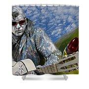 Silver Elvis Shower Curtain