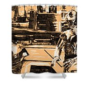 Star Wars At Poster Shower Curtain