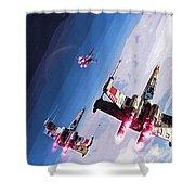 Star Wars Episode 5 Art Shower Curtain