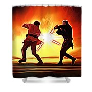 Star Wars Old Art Shower Curtain