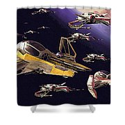 Star Wars Old Poster Shower Curtain