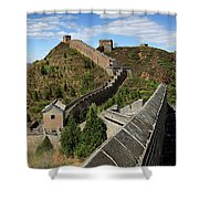 The Great Wall Of China Near Jinshanling Village, Beijing Shower Curtain