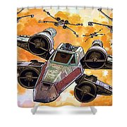 Trilogy Star Wars Poster Shower Curtain
