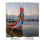 U Bein Bridge - Myanmar Shower Curtain