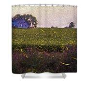 1300 - Fireflies Impression Version Shower Curtain