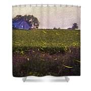 1300 - Fireflies Impression Version Shower Curtain