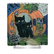 1313 Spooky Lane Shower Curtain