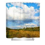 Nature Art Landscape Canvas Art Paintings Oil Shower Curtain