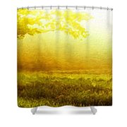Nature Landscape Oil Painting On Canvas Shower Curtain