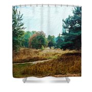 Nature Landscape Wall Art Shower Curtain