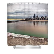 1323 A View From The Breakwall Shower Curtain