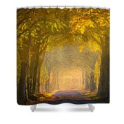 Nature Landscape Wall Art Shower Curtain