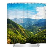 Landscape Nature Art Shower Curtain