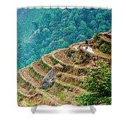 Longji Terraced Fields Scenery Shower Curtain