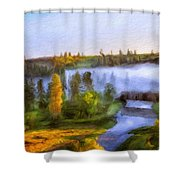 Nature Landscape Oil Painting For Sale Shower Curtain
